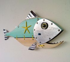 Excited to share the latest addition to my etsy shop: Fish Sculpture, Handmade f… – Fish Supplies Fish Wall Art, Fish Art, Fish Fish, Fish Sculpture, Wall Sculptures, Steampunk Theme, Fisherman Gifts, Nautical Art, Etsy Shop