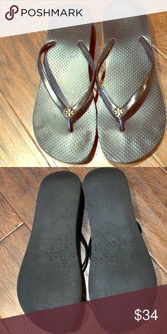 e4ed32ac0 Tory Burch Black Flip Flops Sz 7🦋♥ Great condition preowned Tori Burch Sz