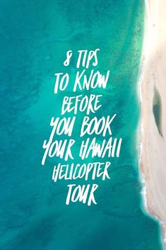 If you are planning a trip to Hawaii, one thing you should include on your itinerary is a helicopter tour. Here are 8 tips you should know before you book! Honeymoon Vacations, Hawaii Honeymoon, Hawaii Vacation, Honeymoon Ireland, Aloha Hawaii, Vacation Ideas, Hawaii Travel Guide, Usa Travel Guide, Travel Usa