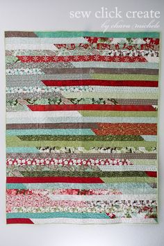 Sew Click Create: Christmas Jelly Roll Quilt