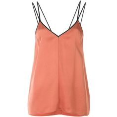 Forte Forte Contrast Strap Cami Top (21.030 RUB) via Polyvore featuring tops, red top, strappy tank, red camisole, coral tank top и coral top