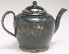 Redware teapot and top by Thomas Crafts and Company, ca. 1822-1830, Whately, MA.