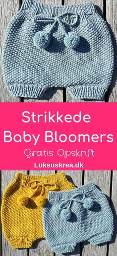 gratis strikkeopskrift på strikkede babybloomers / strikkede baby shorts. Find flere nemme strikkeopskrifter på luksuskrea.dk #gratisstrikkeopskrifter #strikketbabytøj #strikkedebloomers #babystrik #striktilbaby #diybaby #nemmestrikkeopskrifter.