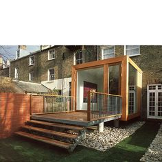 Cube Extension, Stoke Newington An extension built precisely within and expressing the parameters of 'Permitted Development' Building Extension, House Extension Design, Extension Designs, Small Buildings, Garden Buildings, Conservatory Extension, Outdoor Spaces, Outdoor Decor, Garden Office