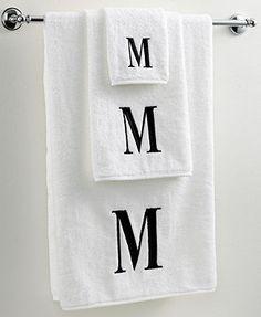 """S"" Monogram Hand Towel"