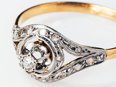 18K French tourbillon ring door RetroFrenchJewelry op Etsy