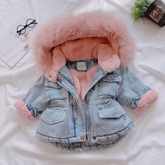 Brand Name: OLEKIDStyle: FashionMaterial: COTTONModel Number: 80902 35-40Fit: Fits true to size, take your normal sizeThickness: HeavyweightSleeve Length(cm): FullPattern Type: SolidGender: GirlsFabric Type: DenimCollar: HoodedClothing Length: REGULARgirls winter clothes: girls winter coatjacket baby: baby girl jacket Girls Winter Jackets, Baby Girl Jackets, Winter Outfits For Girls, Cute Baby Girl Outfits, Cute Baby Clothes, Winter Baby Clothes, Baby Clothes For Girls, Infant Girl Clothes, Stylish Baby Clothes