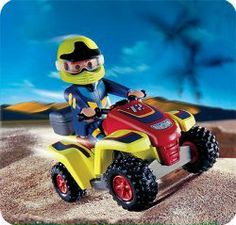Playmobil Quad Bike by Playmobil. $12.99. 5.9 x 5.9 x 3 inches. The driver of the agile quad bike is engaged in a neck-and-neck race with his competitor, the driver of the quad racer (item 4427). After all, both vehicles are equipped with the same motor so that what really counts is the driver`s experience and abilities.