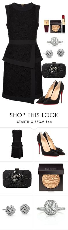 """Untitled #1256"" by fashionmodelstyle ❤ liked on Polyvore featuring Elie Saab, Christian Louboutin, Swarovski, Laura Mercier, Blue Nile, Mark Broumand and Yves Saint Laurent"