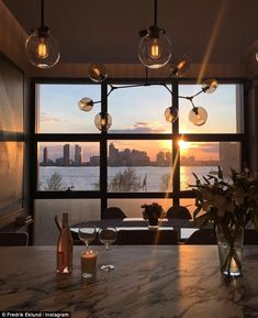Stunning location: Million Dollar Listing's Fredrik Eklund shared images of his new Tribec...