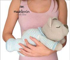 Oso Dormilón - Patrón Muñeco Crochet