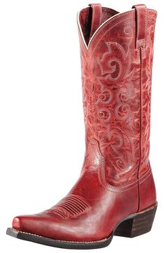 Ariat Womens Alabama Cowboy Boots - Redwood $199.95
