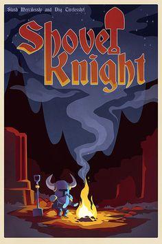 Shovel Knight Poster - Yacht Club Games - 11x17 print