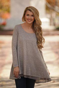 Keep to Myself Grey Top – Dress Up