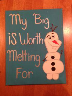 Canvas I made for my big #sorority #biglittle #frozen