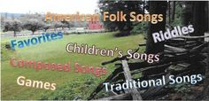 American Folk Songs: folk songs, favorites, children's songs, games, traditional songs, riddles, composed music