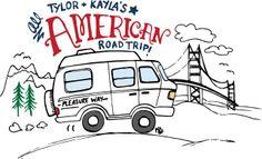 American Road Trip - blog graphic by Kayla English