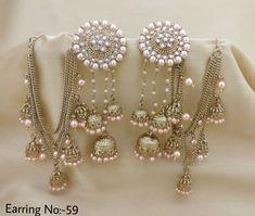 Rama Creations Manufacturer Wholesalers of Imitation Designer Jewellery in India. Tika Jewelry, Indian Jewelry Earrings, Indian Jewelry Sets, Jewelry Design Earrings, Indian Wedding Jewelry, Gold Earrings Designs, India Jewelry, Bridal Jewelry, Jhumki Earrings