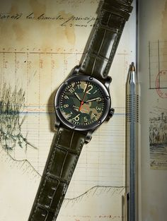 Camouflage dial: The RL67 Safari Chronometer is a striking new edition to the Safari timepiece collection