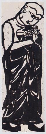 MUNAKATA Shiko (1903-1975), Japan 棟方志功 woodblock print