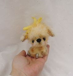 DAISYA cute 5 inch Mohair Poodle puppy by Kazziesbruins on Etsy, £48.00