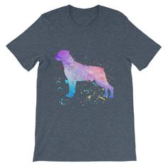 Rottweiler Watercolor Splatter - Unisex short sleeve t-shirt
