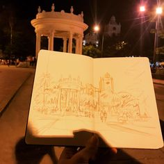 Late night sketch in Ciénaga #worldsketchingtour #southamerica #colombia #cienaga