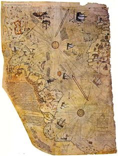 Nautical Chart from Piri Reis Atlas (Bahriyye)