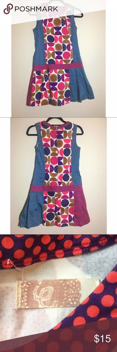 """Funky and eclectic mod print sleeveless dress M This dress is super cute. It belonged to my sister. I'm unsure of where it was purchased. Cotton/spandex blend. Rear zipper and hook closure. Not lined. Excellent pre-loved condition. Approx 32"""" bust, 32"""" length, 31"""" waist. ✅offers❌trades/PP bundles save 20% off 2+ Boutique Dresses"""