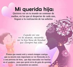Ideas Para Hacer Un Regalo para una hija - Yahoo Image Search Results Dear Daughter, Daughter Quotes, Mom Quotes, Life Quotes, Funny Quotes, Free To Use Images, Love My Kids, Spanish Quotes, Birthday Quotes