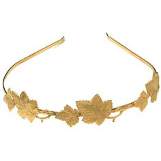24 karat gold pleated headband, decorated with an assortment of beautiful magical leaves. Metal is adjustable there for this piece is super comfi to