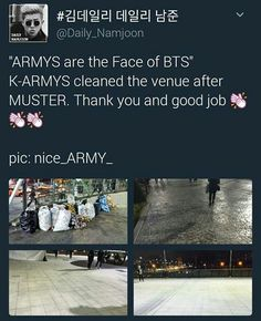 Somehow, this picture makes me proud. Good job ARMYs!