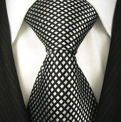 Scott Allan Mens Diamond Pattern Necktie