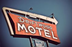 Original, signed, fine art photograph of the Driftwood Motel, a nod to days gone…