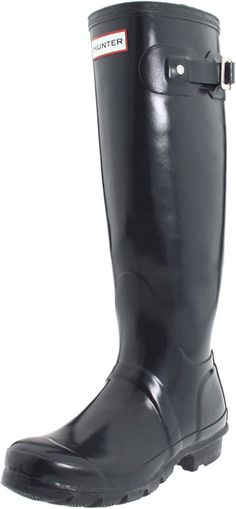 Hunter Women's Original Tall Welly Gloss Rubber Boot,Navy,7 M US * Learn more by visiting the image link.