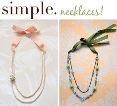 Baúl de tesoros: Convertir collar simples con un lazo