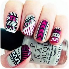 We love these tribal nails!