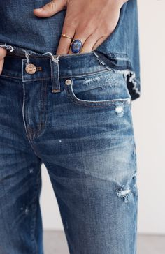 the perfect destroyed jeans