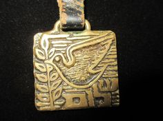 Vintage Made In Israel Dove of Peace Brass by LaReinDesCharms, $9.95