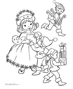 Free Christmas printable coloring pages!