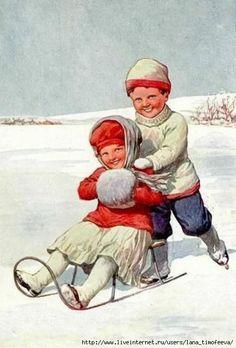 Новогодние открытки с Детками.Винтаж.. Обсуждение на LiveInternet - Российский Сервис Онлайн-Дневников