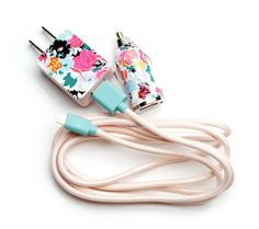 These floral print power players will ensure you never confuse your cord and plugs for someone else's basic white set