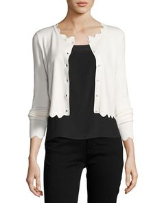 TVKFL Milly Scalloped Cropped Cardigan