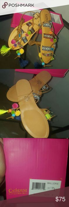 Pom Pom sandals New in box Catherine Malandrino Shoes Sandals