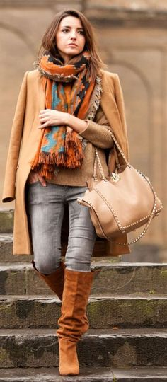 Orange Multi Graphic Scarf by Lovely Pepa
