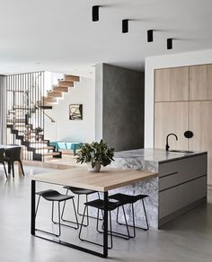 35 Modern Kitchen Ideas Balancing Natural Wood Impressions Trending Best Modern Kitchen Design Accentuated by Exotic Wooden Elements Part Home Decor Kitchen, Interior Design Kitchen, Modern Interior Design, Modern Decor, Home Kitchens, Kitchen Ideas, Modern Kitchens, Kitchen Modern, Dream Kitchens