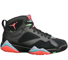 431ebef4c1bbb2 2015 Air Jordan 7 (VII) Retro Black Infrared Graphite-Retro Noir shoes for  sale online store.