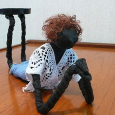 by Sandra June Originals. 'Lounging Around ' Handmade Contemporary Tea-Light Sculpture