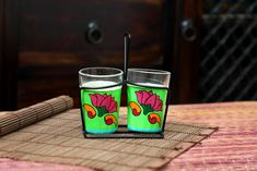 Tapri Glasses - Lotus  These Glasses show beautifully designed lotus which is considered the symbol of Purity & Hope.   Get your hands on these beautifully hand designed and hand painted Tapri glasses only for INR 495/- ONLY and is also available in set of 4 and set of 6.  #akrazymug #tray #ganpatichaturthi #handcrafted #tapri #digitallyprinted #homedecor #handmade #basketdiscount #ceramiccoffeeucup #coloredteaglasses #stainlesssteeltumblers #steelcanisters #drinkware…