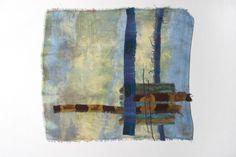 Dianne Koppisch. Turner, 10 x 11 inches, Hand dyed silk organza with fused silk remnants. Machine stitched.